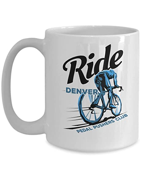 Retro Denver Coffee Mug | Pedal Pushers Bicycle Club Tea Cup ...