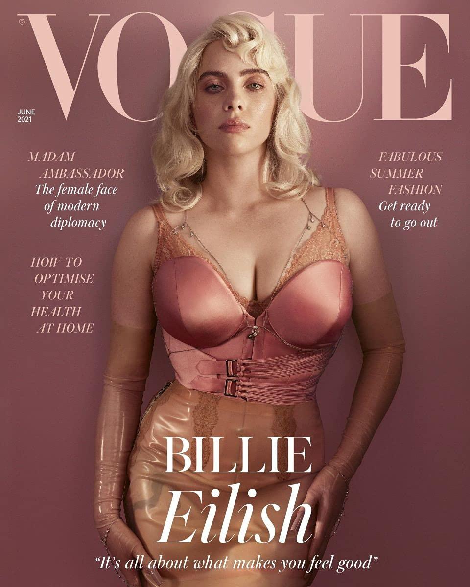"""Vogue UK ( June 2021) Magazine - Billie Eilish """" Its all about what makes  you feel Good: Billie Eilish, Condé Nast: Amazon.com: Books"""
