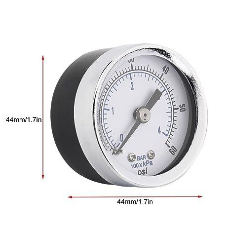 """Ultra 1/8"""" NPT Compresor de aire hidráulico de presión calibre 0 – 60"""