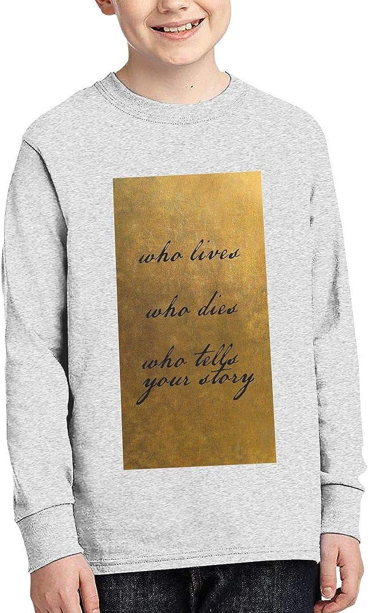 Hamilton The Musical Boys Girls Long Sleeve Graphic Fashion T-Shirt