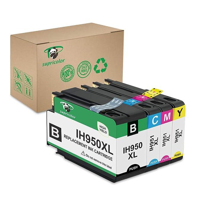 Supricolor 950XL 951XL Ink Cartridges, Compatible for 950 XL 951 XL 950 951 Work with OfficeJet Pro 8600 8610 8620 8630 8660 8640 8615 8625 276DW 251D