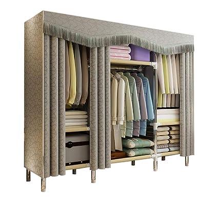 Amazon.com: HMEIGUI Portable Cloth Wardrobe Clothes Closet ...
