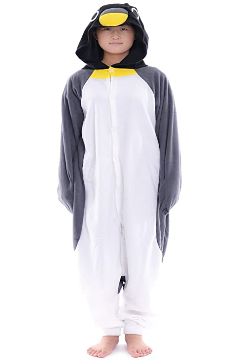 Amazon.com: Gris Pingüino adulto unisex Animal Disfraz De ...