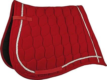 Tapis De Selle Antik Velours Dressage Cheval Rouge Amazon Fr