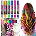 Glitter Vibrant Temporary Hair Color Pen Crayon Chalk Non-Toxic Blendable Rainbow Colored Dye Pastel Kit Essential