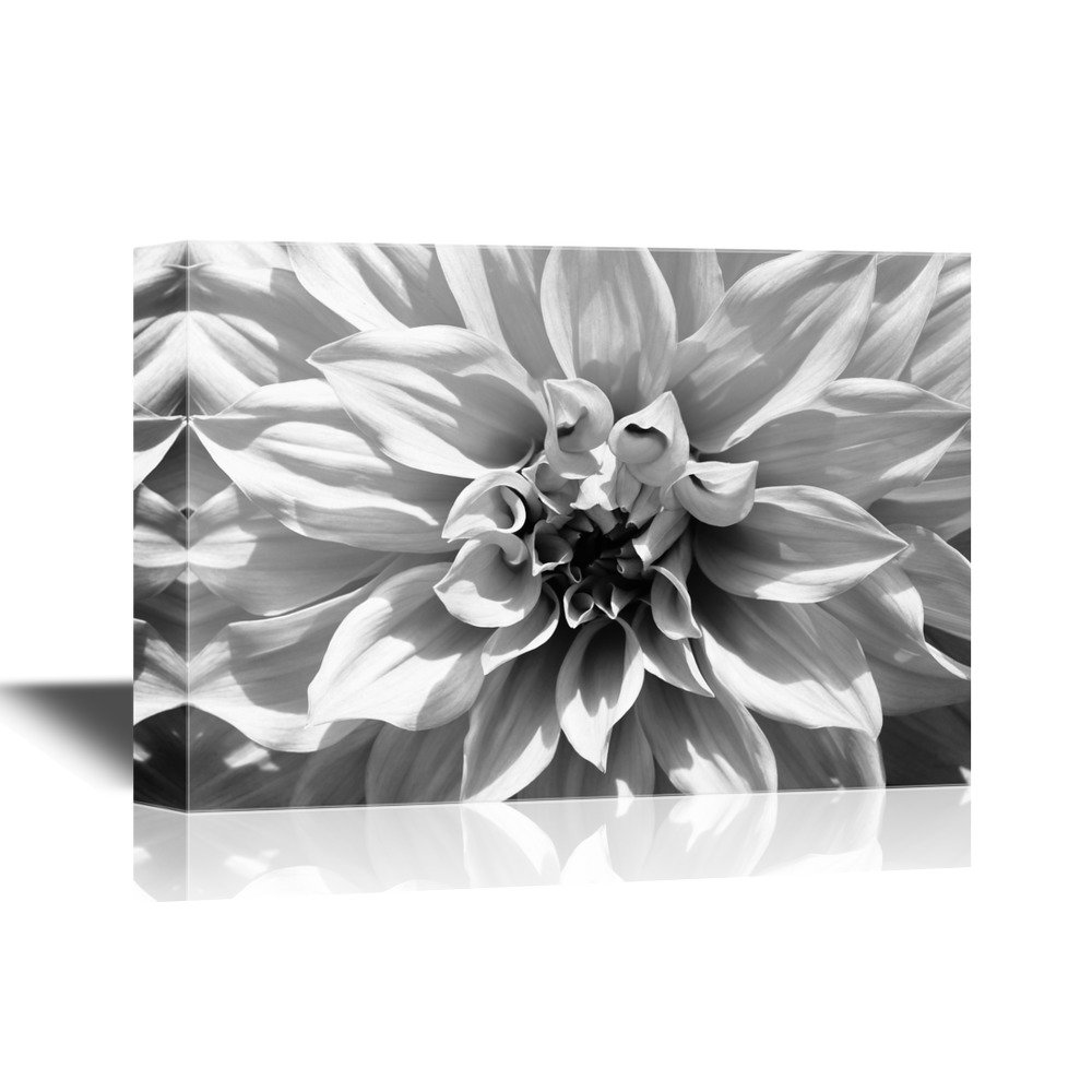 Flower Petal In Black And White Canvas Art Wall26