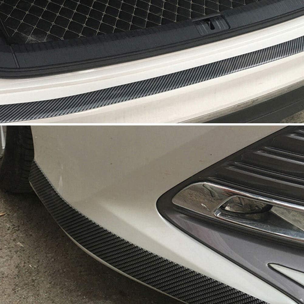 LOVFASH 5CM1M Car Sticker Carbon Fiber Rubber Edge Guard Strip Door Sill Protector