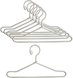 Miniature Hanger, 1 Pair 1:12 Doll House Miniature Hanger Collectible Lifelike Alloy Doll House Miniature Suit Hanger for Home - White