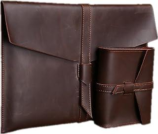Sac d'affaires pour hommes Hommes 2 en 1 sac Set Computer sac macbook pro / air sac d'ordinateur portable sur mesure manchon de protection adapté pour les affaires décontracté Ensemble de sacs 3 en 1