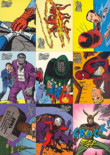 MARVEL THE SILVER AGE 1998 FLEER SKYBOX COMPLETE BASE CARD SET OF 100 (Cards Trading Comic Book)