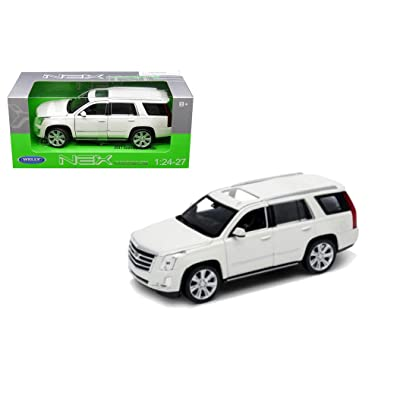 "Welly 1/24 Scale (7"") 2020 White Cadillac Escalade SUV Diecast Model Car: Everything Else"