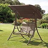 havana bronze garden outdoor swing chair 2 seater swinging hammock patio cushioned seat gardman protective swing hammock cover swinging bench cover 2      rh   amazon co uk
