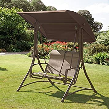 havana bronze garden outdoor swing chair 2 seater swinging hammock patio cushioned seat havana bronze garden outdoor swing chair 2 seater swinging hammock      rh   amazon co uk