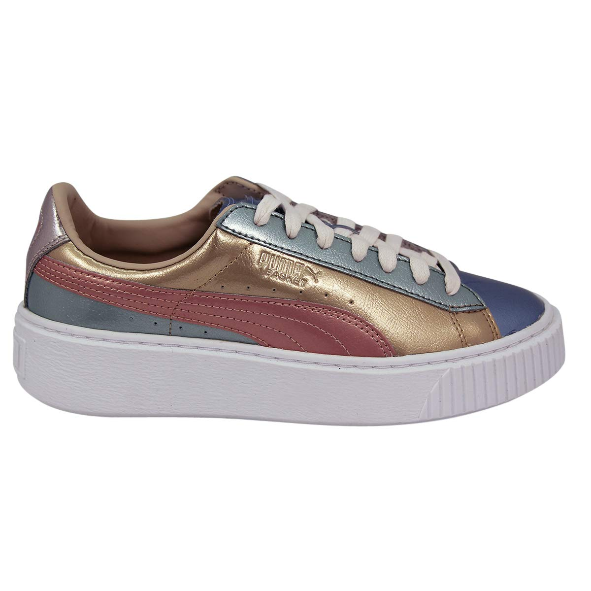 low priced 297d9 b5acd Puma WNS BASKET PLATFORM BAUBLE Leather Women Sneakers Shoes ...