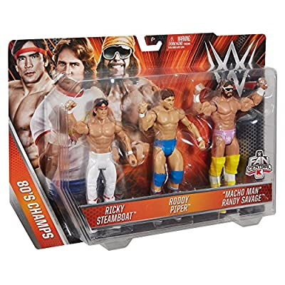 WWE Basic Figure 3 Pack Action Figure - Ricky Steamboat Roddy Piper Macho Man Randy Savage: Toys & Games