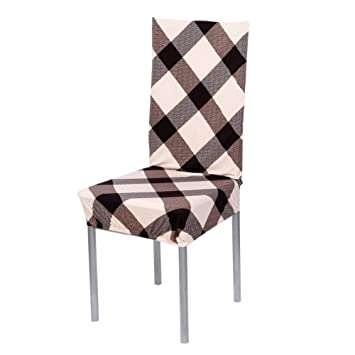 Zibuyu Removable Stretch Elastic Slipcovers Home Stoo Seatl Chair Covers E
