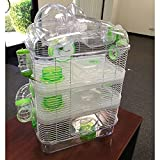 4 Level Hamster Mice Mouse Cage with Large Top Exercise Balll 25