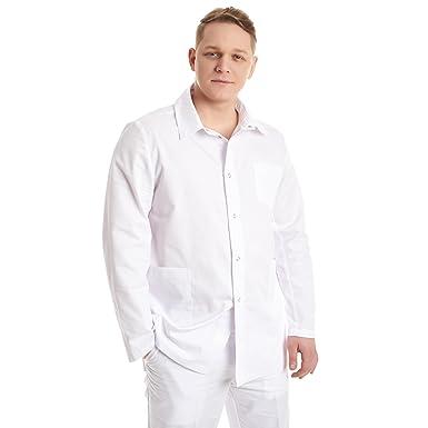 Vest Albus Bata de Laboratorio Hombre Medicina Sanitario Estudiantes (XS)