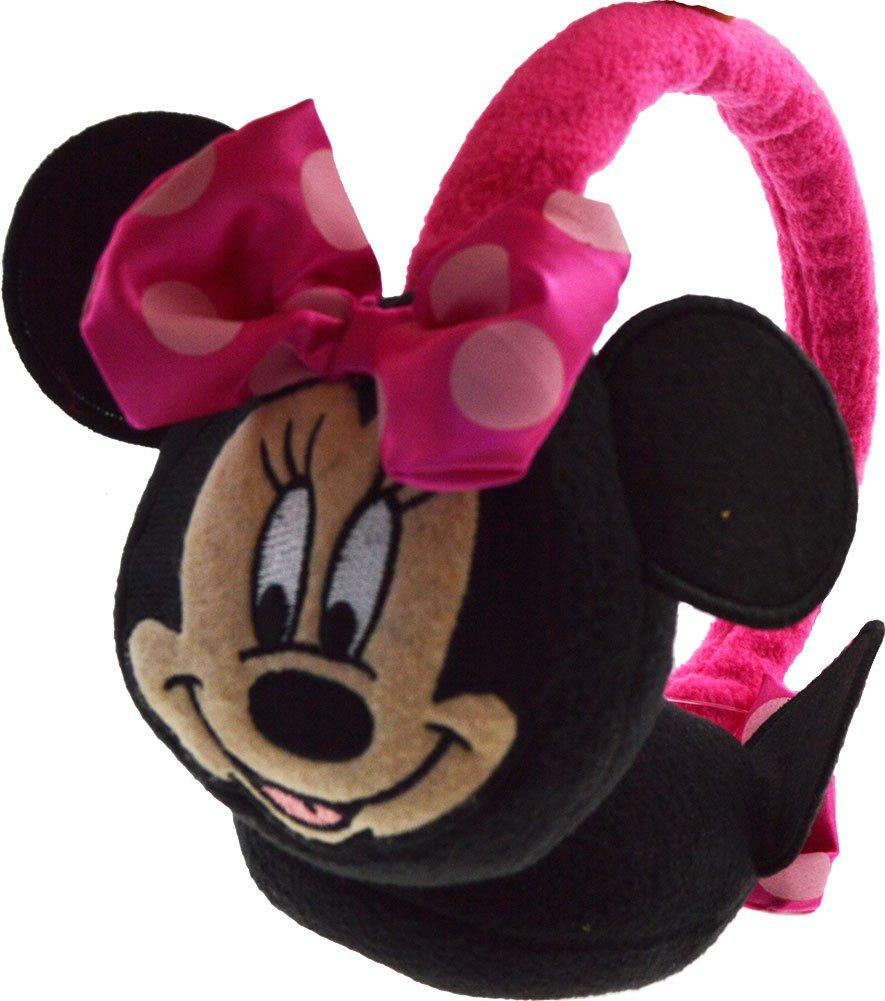 Childrens Disney Minnie Mouse 3D ears and Bow Winter Warm Ear Muffs earmuffs