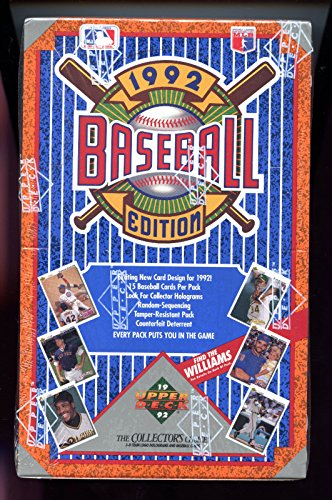 Vintage Unopened Box (1992 Upper Deck Baseball Wax Pack Box Find the Ted Williams Heroes Set FACTORY)