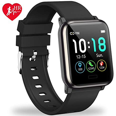 L8star Fitness Tracker HR, Activity Tracker with 1.3inch IPS Color Screen Long Battery Life Smart Watch with Sleep Monitor Step Counter Calorie ...
