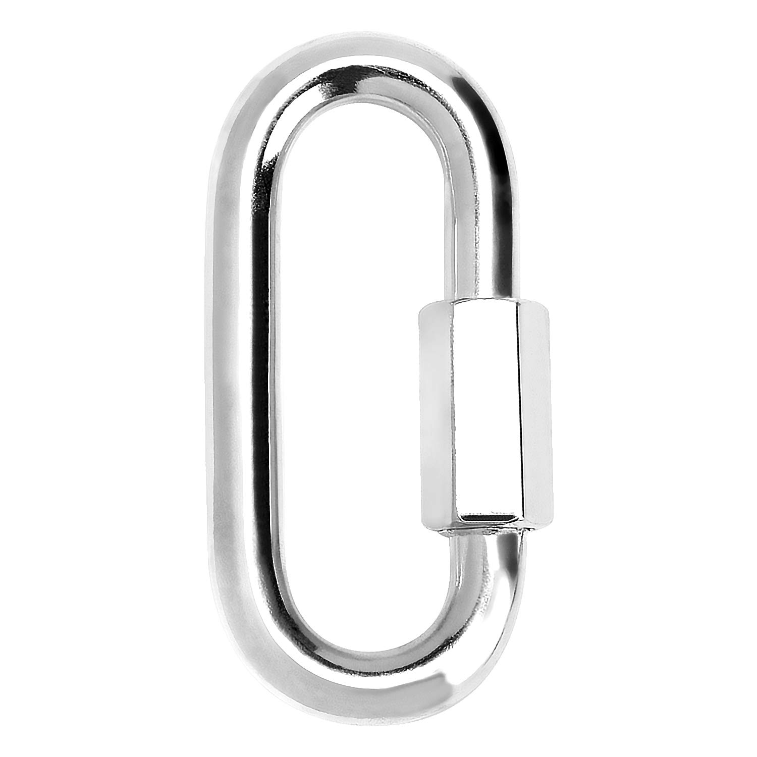 punching bag and much more steel carabiner with 150 kg capacity 05 pieces - 8x80mm for awning Schwebegrill COM-FOUR/® 5x snap hook