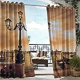 XXANS Outdoor Blackout Curtain,Venice Lagoon