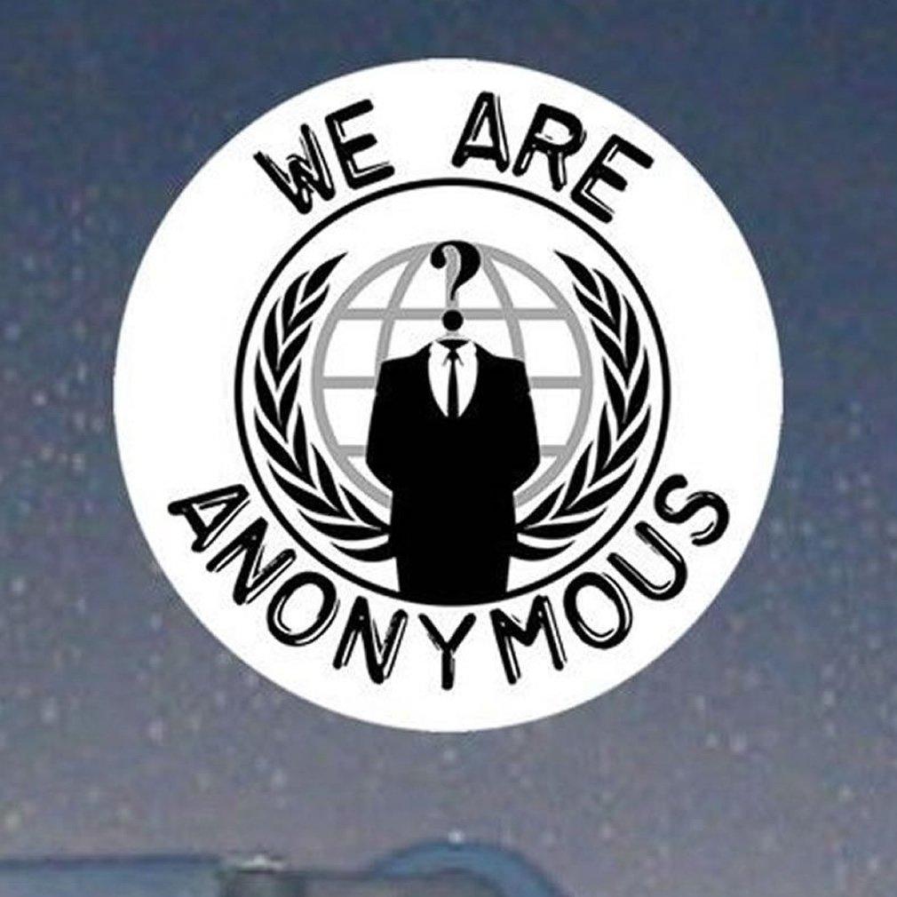 Amazon.com: Somos Anonymous Logo/ocupan círculo calcomanía ...