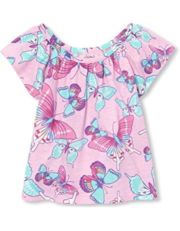 4e074cd6da7b72 The Children s Place Baby Girls Novelty Printed Matchable Flutter Sleeve  Tank Top