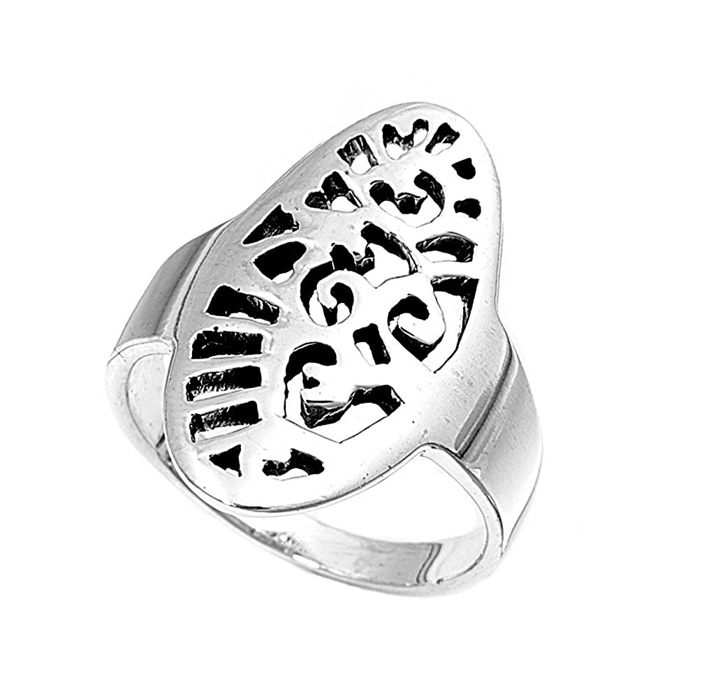 Princess Kylie 925 Sterling Silver Abstract Filigree Ring