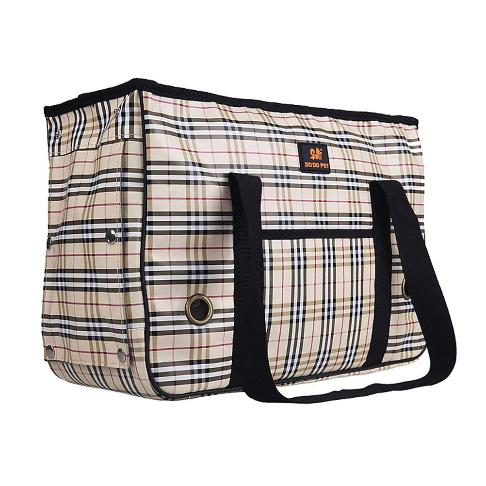 Pet Carrier Portable Collapsible Puppy Bag Travel Bags (17.7 X 7.1 X 11.8 Inches)