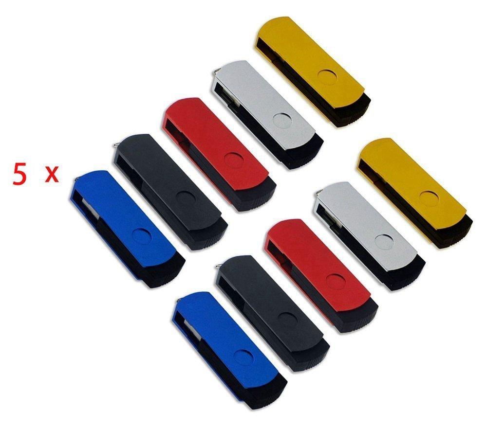 FEBNISCTE Pack of 50 Swivel USB 2.0 256MB (Not 256GB) Flash Drive Memory Stick by FEBNISCTE