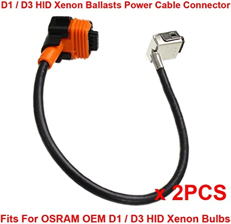 2x HID Relay Harness D3S 35W//55W Xenon OEM Replacement Wiring Conversion Adapter