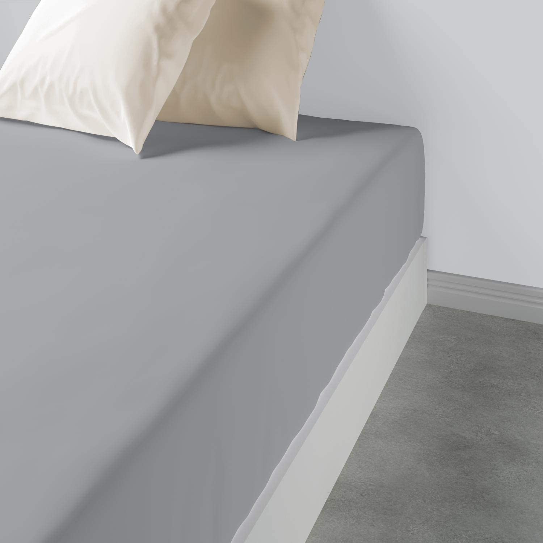 Drap Housse Ficelle 90 x 190 x 30-100/% Coton Drap de lit Large Bonnet Tissu Doux et Respirant Les Ateliers du Linge Drap Housse
