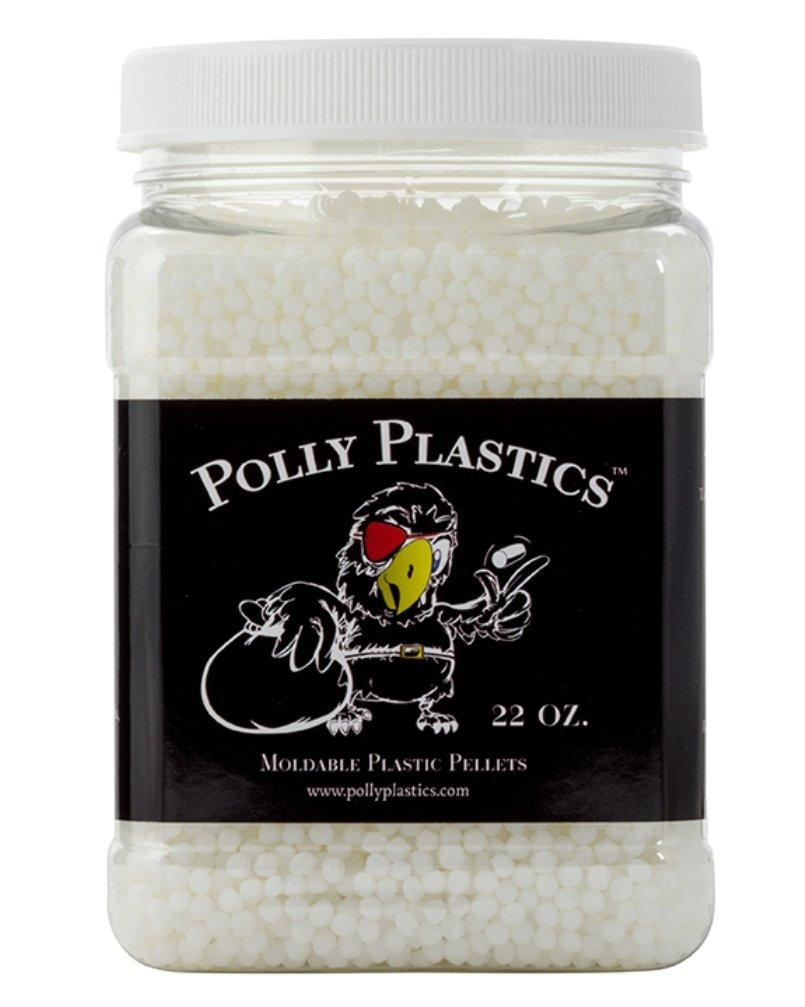 Polly Plastics Moldable Plastic Pellets. 22 oz. EZ Grip Jar. Bonus Idea Booklet Included