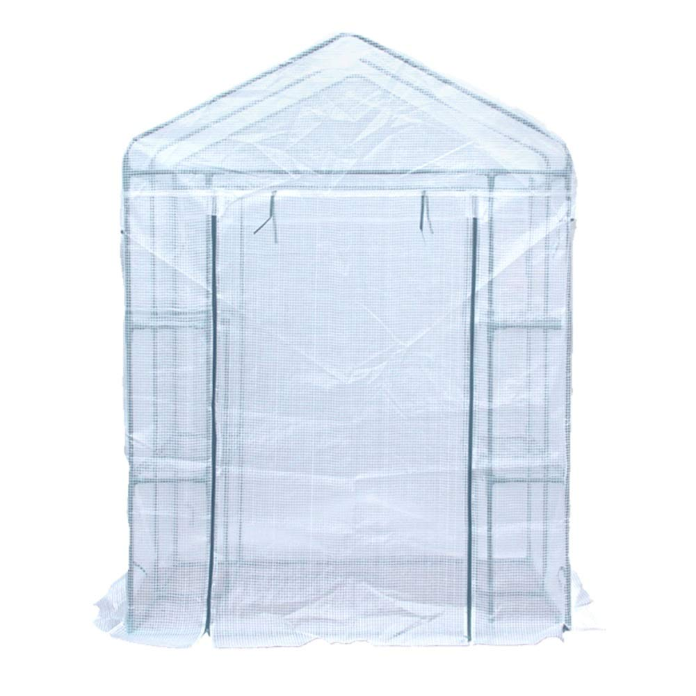 HAIPENG 温室 ビニール温室 ウォークイン 庭園 グロースハウス 温室 工場 成長する 家 ポータブル と 巻き上げる ドア 鋼 フレーム、 2サイズ (色 : 白, サイズ さいず : 143x73x195cm) B07L6K2QJ5 白 143x73x195cm