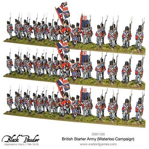 Warlord Games, Napoleonic British Starter Army (Waterloo Campaign), Black Powder Wargaming Miniatures