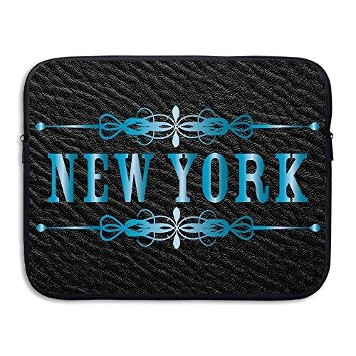 New York Slim Briefcase - Custom Laptop Sleeve 13/15 Inch Notebook Zipper Briefcase New York Print Portable Messenger Bag