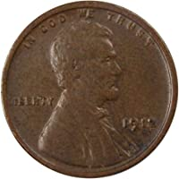 1912 1c Lincoln Wheat Cent Penny F Fine