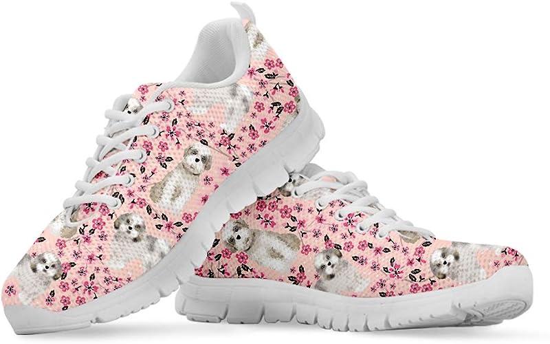 Coloranimal Bull Terrier - Zapatillas de Running para Mujer, diseño Floral, Color, Talla 45 EU: Amazon.es: Zapatos y complementos