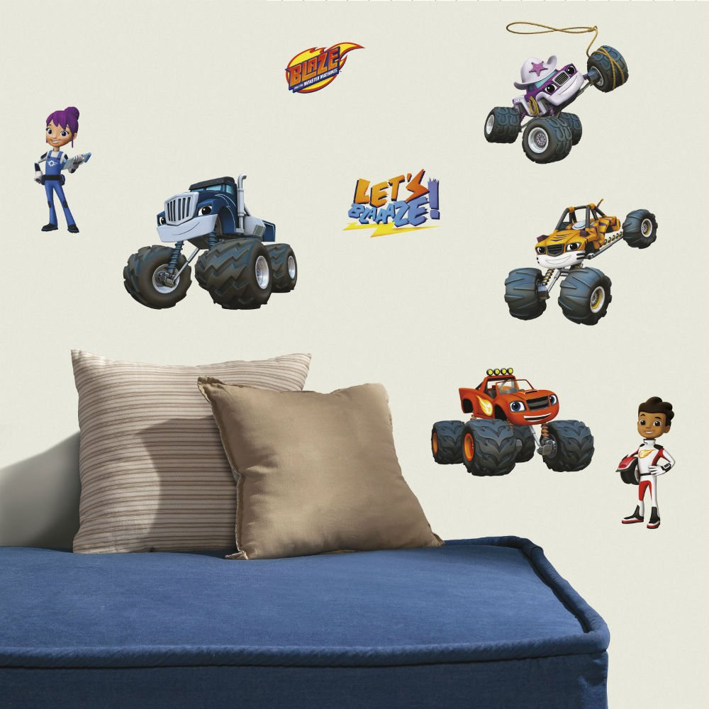 amazon com 28 blaze and the monster machines wall decals trucks amazon com 28 blaze and the monster machines wall decals trucks stickers boys bedroom decor u s top seller baby