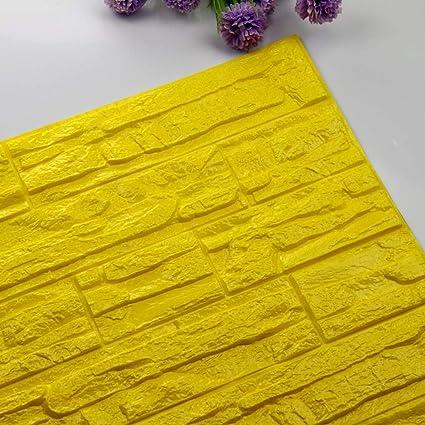 JiaMeng Pegatinas de Pared DIY 3D ladrillo PE Espuma Wallpaper Panels Room Decal Stone decoración en