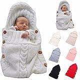 Newborn Baby Wrap Swaddle Blanket, Kids Wool Knit
