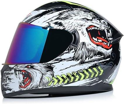 Amazon.es: Casco Integral Motocross Racing Gorras de protección de ...