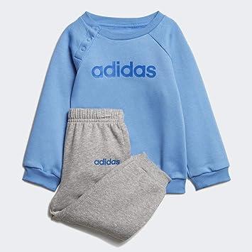adidas I Lin Jogg FL Chándal, Unisex niños, Real Blue/Medium Grey ...
