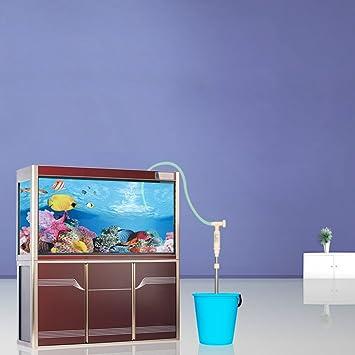 NCFAQUA 530L/h - Filtro de agua para acuario eléctrico limpiador de grava con sifón