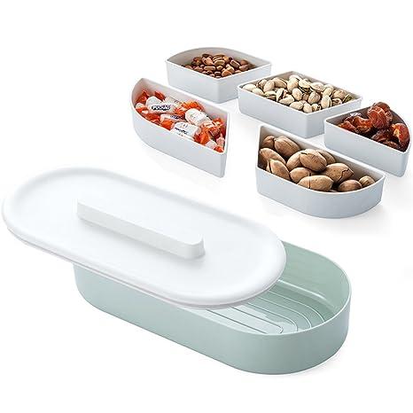 Plástico sub-Grid tuerca plato de fruta plato con cubierta de sellado caja por FREELOVE
