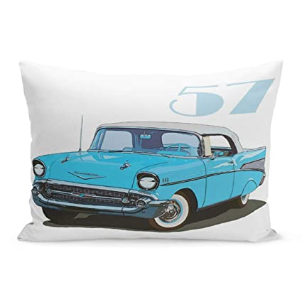 Amazon.com: Aikul Throw Pillow Cover Chevrolet Classic 57 Chevy Bel ...