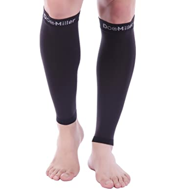 603d48c5e69 Doc Miller Premium Calf Compression Sleeve 1 Pair 20-30mmHg Strong Calf  Support Multiple Colors
