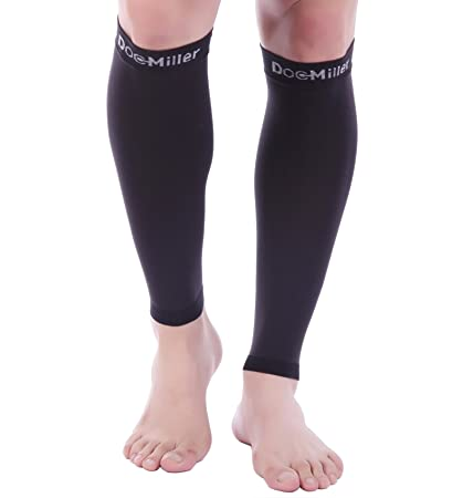 cccdbcb263 Doc Miller Premium Calf Compression Sleeve 1 Pair 20-30mmHg Strong Calf  Support Multiple Colors Graduated Sports Running Recovery Shin Splints  Varicose ...